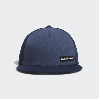 Heathered Flat-Bill Hat Collegiate Navy DT2195