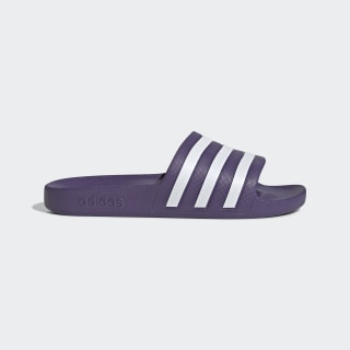 Adilette Aqua Slides Tech Purple / Cloud White / Tech Purple EG1604