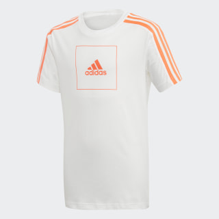 adidas Athletics Club Tee White / White / App Solar Red FL2818