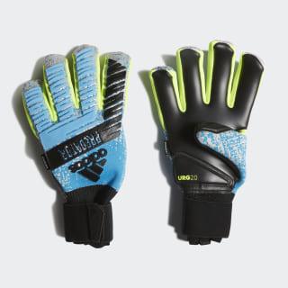 Вратарские перчатки Predator Pro Fingersave bright cyan / silver met. / solar yellow / black DY2598