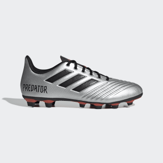 Zapatos de Fútbol Predator 19.4 Multiterreno Silver Metallic / Core Black / Hi-Res Red F35597