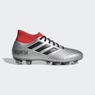 Calzado de Fútbol Predator 19.4 S Multiterreno Silver Metallic / Core Black / Hi-Res Red EE9134