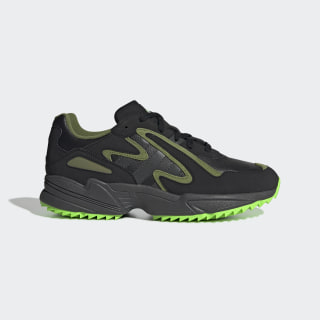 Zapatilla Yung-96 Chasm Trail Core Black / Grey Six / Solar Green EF8973