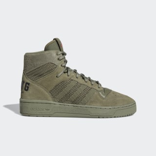 We All We Got Rivalry Hi Shoes Legacy Green / Core Black / Lush Red FX3470