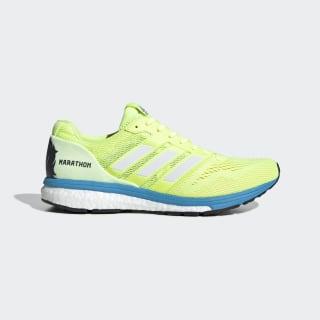 adizero Boston 7 Shoes Hi-Res Yellow / Cloud White / Shock Cyan EF7632