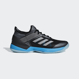Adizero Ubersonic 3.0 Clay Shoes Core Black / Cloud White / Shock Cyan CG6483