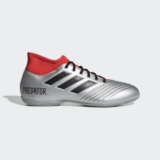 Chuteira Predator 19.4 Futsal silver met./core black/HI-RES RED S18 EF0552