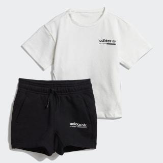 Conjunto camiseta y pantalón corto Kaval Cloud White / Black DV2329