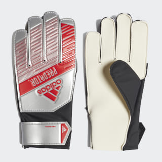 Predator Young Pro Goalkeeper Gloves Silver Met. / Black DY2612