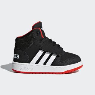 Высокие кроссовки Hoops 2.0 Mid core black / ftwr white / hi-res red s18 B75945