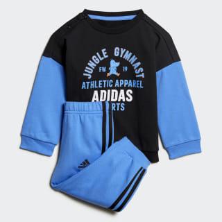 Комплект: джемпер и брюки Graphic black / real blue ED1169