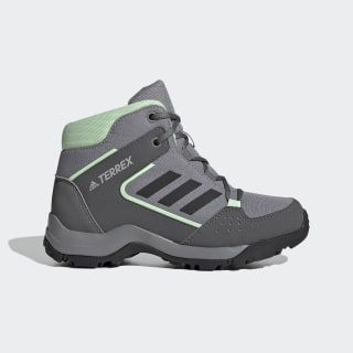 Terrex Hyperhiker Hiking Shoes Grey Three / Core Black / Glow Green EF0224