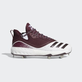 Icon V Cleats Cloud White / Maroon / Silver Metallic G28245