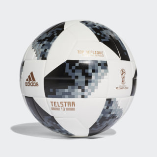 Balón Top Replique Copa Mundial de la FIFA White / Black / Silver Metallic CE8091
