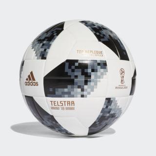 Bola FIFA World Cup Top Replique 2018 WHITE/BLACK/SILVER MET. CE8091