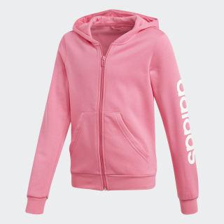 Polera con Capucha Essentials Linear Semi Solar Pink / White DV0360
