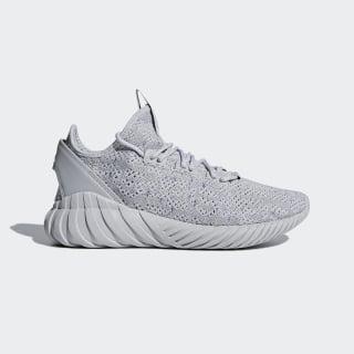 Tubular Doom Sock Primeknit Shoes Grey / Cloud White / Hi-Res Blue CG5512