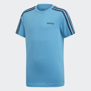 Camiseta Essentials 3-Stripes shock cyan / collegiate navy DV1804