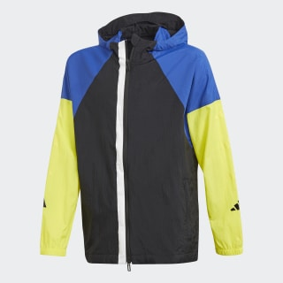 Athletics Hype Windbreaker Black / Collegiate Royal / Shock Yellow DW9295