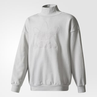 Sweatshirt Gola Redonda em Moletão Trevo Grey Two BQ3958