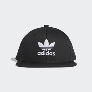 Snapback Trefoil Şapka Black / White DV0176