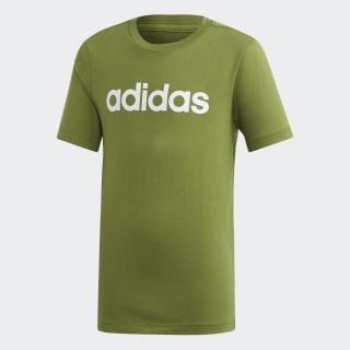 T-shirt Logótipo Linear Essentials Tech Olive / White EI7991