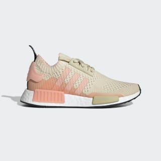 NMD_R1 Primeknit Shoes St Desert Sand / Glow Pink / Ecru Tint EE6434