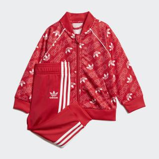 Track Suit Monogram Trefoil SST Collegiate Red / White D96086