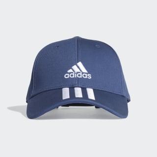 3-Stripes Twill Beyzbol Şapkası Tech Indigo / White / White FK0895