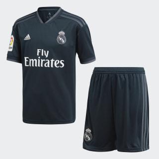 Real Madrid Mini-Auswärtsausrüstung Tech Onix / Bold Onix / White CG0569