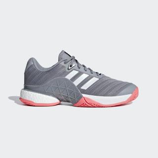 Barricade 2018 Boost Shoes Matte Silver / Ftwr White / Scarlet AH2094