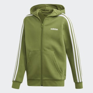 Essentials 3-Stripes Hoodie Tech Olive / White EI7996