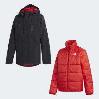 Куртка 2-в-1 black / power red EH4164