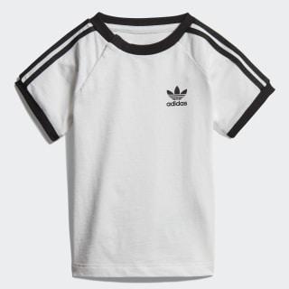 Camiseta 3 bandas White / Black DV2824