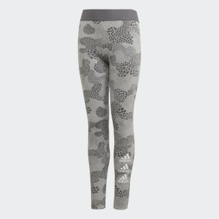 Must Haves Graphic Legging Medium Grey Heather / Grey Four / White FM6510
