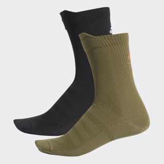 adidas x UNDEFEATED Socks 2 Pairs Olive Cargo / Black / Orange / White DY5865