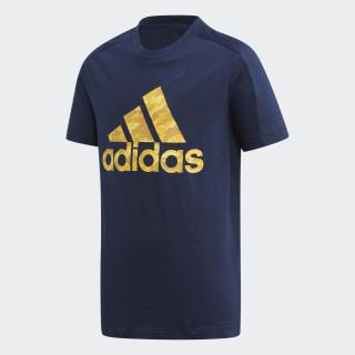 Camiseta YB ID TEE collegiate navy/active gold ED6435