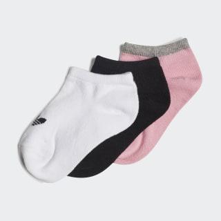 Trefoil Liner Socks 3 Pairs Light Pink / Medium Grey Heather / Black DV0228