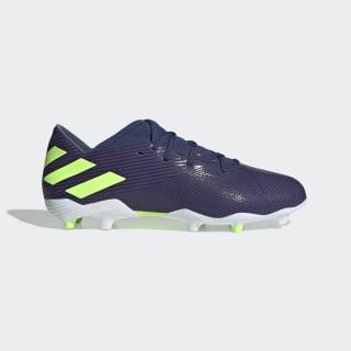 Zapatos de Fútbol Nemeziz Messi 19.3 Terreno Firme Tech Indigo / Signal Green / Cloud White EF1806