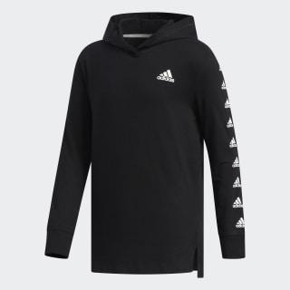 Hooded Badge of Sport Sleeve Tee Black CM0555