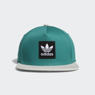 Two-Tone Trefoil Snapback Hat Active Green / Raw White DU8299