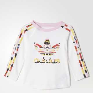 Camiseta Cloud Ls Infantil WHITE/MULTICOLOR BQ4372