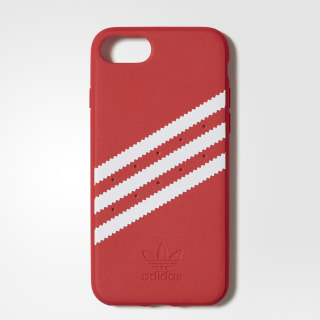 Moulded Case iPhone 8 Suede Scarlet / White CJ1250