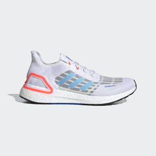 Ultraboost SUMMER.RDY Shoes Cloud White / Glow Blue / Solar Red EG0751