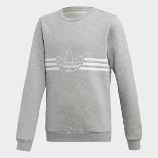 Outline Crew Sweatshirt Medium Grey Heather / White ED7856