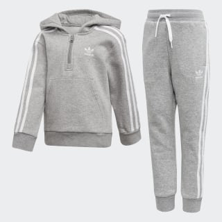 Fleece Hoodie Set Medium Grey Heather / White DV2843