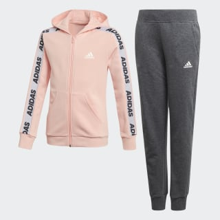 Hooded Tracksuit Glow Pink / White ED4636