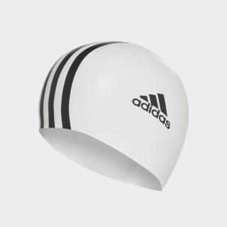 Плавательная шапочка 3-Stripes Silicone white / black 802309