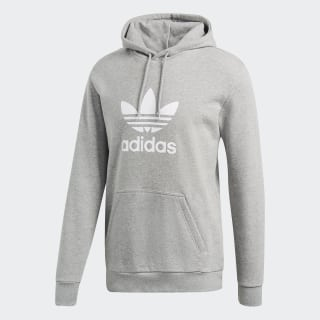 Trefoil Hoodie Medium Grey Heather DT7963