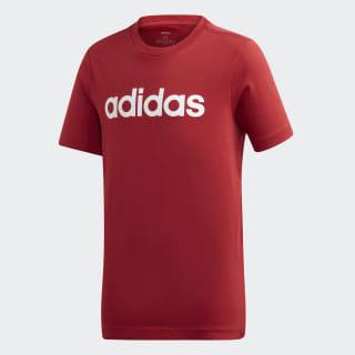 T-shirt Essentials Linear Logo Active Maroon / White EI7989